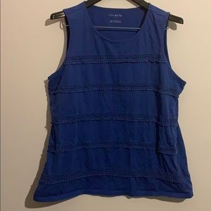 Talbots royal blue tank top with awesome design
